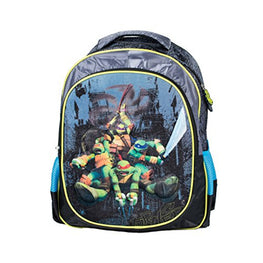 Nickelodeon TMNT Ninja Turtle Deluxe 3D Plush Velvet Large 16 Inch Backpack