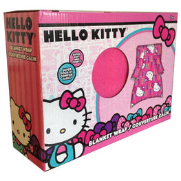 Hello Kitty Blanket Buddy Kids Fleece Blanket Wrap 43.2 x 42.9 [ Pink ]
