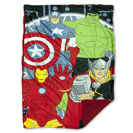 Marvel Avengers Mink to Sherpa Blanket 40x60 Official Licensed