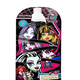 Monster High Brand New Classic Designed Exclusive Reusable Eco-friendly Collapsible Kids Water Bottle 380ml Sans BPA Free