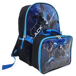 Marvel Avengers Black Panther 15 Inch Backpack with Lunch Bag Set