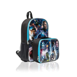 Marvel Avengers 15 Inch Backpack with Lunch Bag for Kids