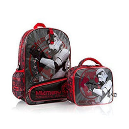 "Heys Star Wars 16"" Backpack Bag with Detachable Lunch Kit Box Imperial Patrol"