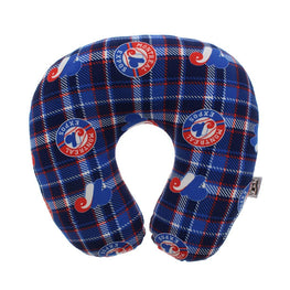 MLB Travel Pillow Plaid - Montreal Expos Comfortable Neck Pillow