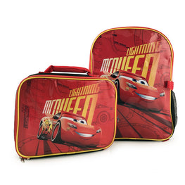 Disney Pixar Cars 3 Lightning McQueen Kids Backpack with Detachable Insulated Lunch Kit