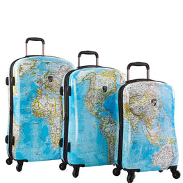 Heys America Journey 2G Maps 3pc Hardside Fashion Spinner Set (Multicolor)