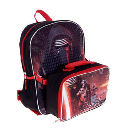 Star Wars Kylo Ren Deluxe Exclusive Kids School Backpack and Lunch Bag Set 15""