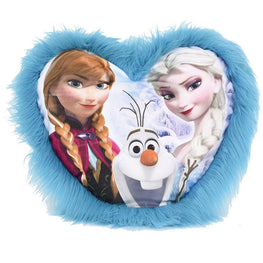 "Disney Frozen Elsa Olaf Anna Pj Cuddle Pal Heart Shape Pillow 23"" X 21"""