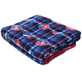 MLB Travel Fleece Blanket Plaid - Montreal Expose [Blue/Red]
