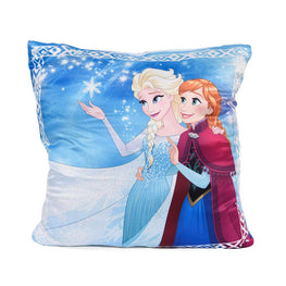 Disney Frozen Micro Plush Throw Kids Blanket and Square Cushion 2 Pack Set for Girls - 40 x 50 Inch