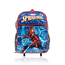 Marvel Spider-man Boys 16 Inch Wheeled Backpack with Retractable Handle