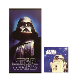 Disney Star Wars Kids 2 Piece Cotton Towel Set - Bath Towel & Wash Cloth Set for Boys