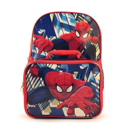 Spider-Man Backpack and Lunch Bag Set [Black]