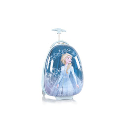 Disney Frozen II Elsa Hard Side wheeled Luggage for Kids - 18 Inch [Sky Blue]