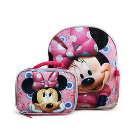 Disney Minnie Mouse Deluxe Bow-Tique Backpack and Lunch Bag Set