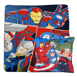 Marvel Avengers Fleece Throw and Cushion 2 Pack Set 40 x 50 Inch