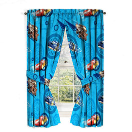 Jay Franco Disney Cars 2 City Limits Curtain Drape Set, 63 Inch,