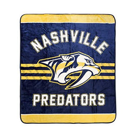 Nashville Predators Luxury Velour High Pile Blanket - Twin Size 60 x 70 Inch [Blue] …