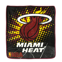 NBA New Miami Heat Ultimate Super Plush Throw 48x60 Blanket Official