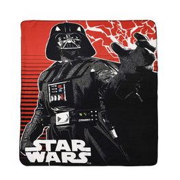 Disney Lucas Films' Star Wars Darth Vedar Fleece Throw 46 X 60""