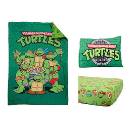 Teeange Mutant Ninja Turtles 3 Piece Toddler Bedding Set