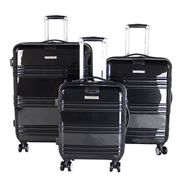 "Air Canada Hardside Roll Aboard 3 Piece Luggage Set - 20"", 24"" & 28"" [ Black ]"