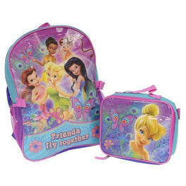 "Disney Fairies 16"" Backpack with Lunch Box"