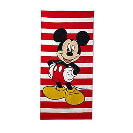 Disney Mickey Mouse Kids Beach Towel - 28 x 58 Inch Cotton Bath Towel
