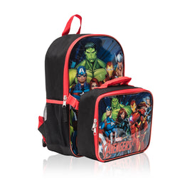 Marvel Avengers Kids Backpack with Detachable Lunch Bag Set