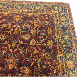 AHMEDANI Excellent Designed Bijare Rectangle Area Rugs Hand Knotted Oriental Hand Spun Ghazni Wool Carpet (12 x 18)'