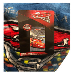 "Disney Pixar Cars 3 Kids Beach Towel - 28"" x 58"" Cotton Bath Towel"