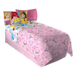 "Disney Princess ""Princess Strong Full Sheet Set Kids Bedding Set 4pc - 81 X 96 Inch"