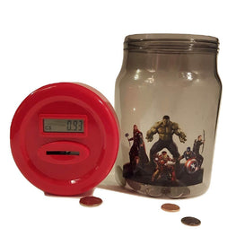 Marvel Avengers Age Of Ultron Digital Coin Counting Money Jar Bank Official Licensed