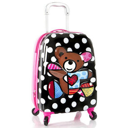 Heys America Britto Tween 3D Pop Up Spinner Luggage (Multi-Britto Teddy Bear)