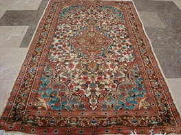 Wow Floral Vaas Medallion Kasha Area Rug Hand Knotted Wool Silk Carpet (5 x 3)'