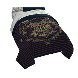 Jay Franco Harry Potter Spellbound Hogwarts Emblem Reversible Twin/Full Comforter with Gold Foil Design