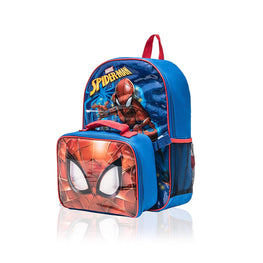 "Spiderman Marvel 15"" Backpack with Detachable Lunch Box 2 Piece Set"