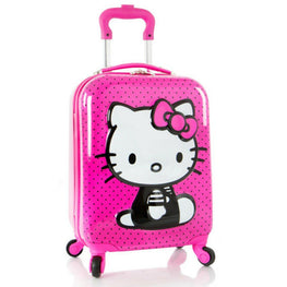 Hasbro Hello Kitty Girl's 18 Inch Hardside 3D Spinner Carry On Luggage [Pink]