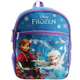 Disney Frozen Princess Elsa & Anna Backpack with 1 Large Front Pocket 16 Inch