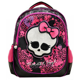 Monster High Deluxe 3D Plush Velvet Large Girls Backpack