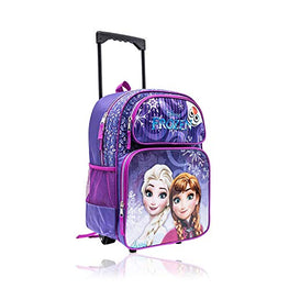 Frozen Anna Elsa 16 Inch Wheeled Backpack for Girls Kids School Bag