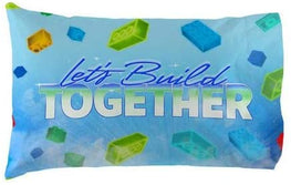 Lego Pillowcase Let's Build Together Reversible Pillowcase for Kids - 20 X 30 Inch (1 Piece Pillow Case Only)