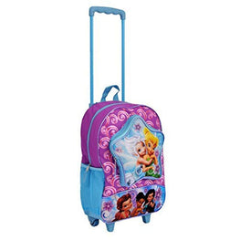 Disney Fairies Classic Designed Glitter Wheeled School Backpack for Kids 16 Inch