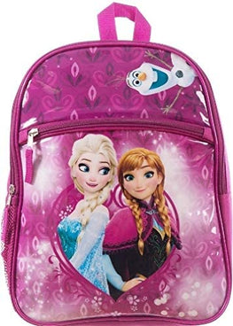 Disney Frozen II Anna Elsa Olaf Pocket Backpack for Girls 15 Inch School Bag