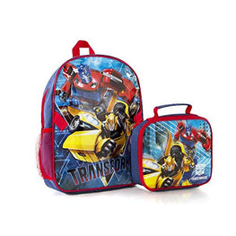 "Hasbro Econo 2PC Set - Transformers Kids 15"" Backpack with Lunch Bag"