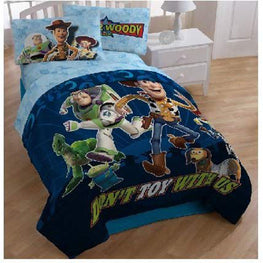 Toy Story Disney's Don't Toy with Us 4pc Kids Twin Bed Set and Bonus Bag