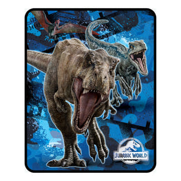 Jurassic World Silk Touch Throw Blanket 40 x 50 Inch
