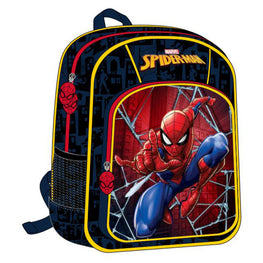 Marvel Deluxe Spider-Man Kids Backpack 16 Inch High School Bag for Boys