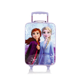 Disney Frozen II Anna Elsa Soft Side Rolling Luggage for Kids [17 Inch - Purple]