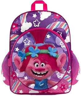 Trolls Backpack School Dreamworks for Girls 15 Inch with Adjustable Back Straps Pink